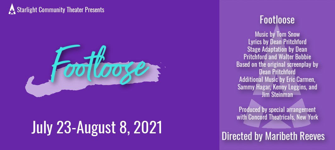 Footloose  on ago. 08, 14:00@Starlight Community Theater - Pick a seat, Buy tickets and Get information on Starlight Community Theater starlighttickets