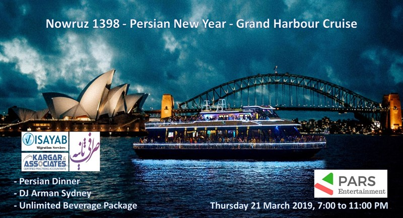 Get Information and buy tickets to Nowruz 1398 - Persian New Year - Grand Harbour Cruise  on Pars Entertainment Australia