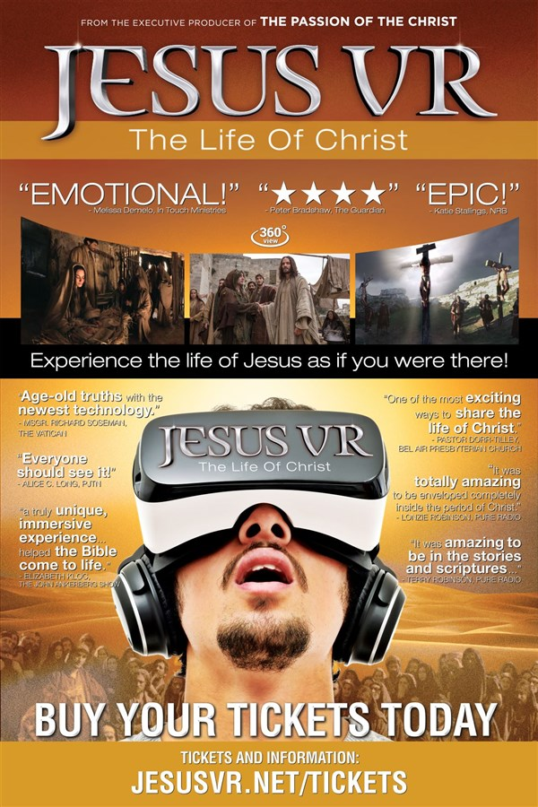 Get Information and buy tickets to JesusVR Tour Orange County on JesusVR