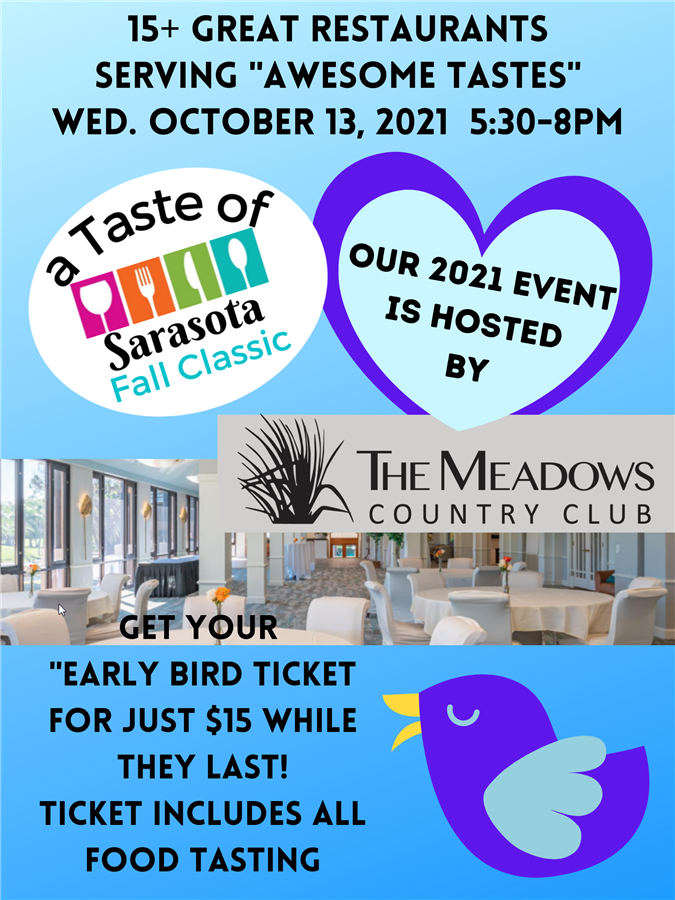 Get Information and buy tickets to 2021 A Taste of Sarasota Fall Classic  on Powell Promotions