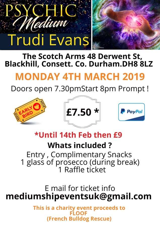 Get Information and buy tickets to Mediumship Evening with Trudi Evans  on Mediumship Events UK