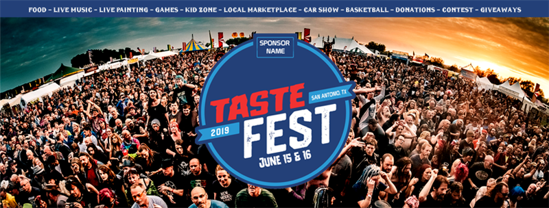 Get Information and buy tickets to Taste Fest 2019 (San Antonio, Tx) Food, Concert, Games, Art, 3v3 Basketball, Cancer Charity on New Reign Promotions