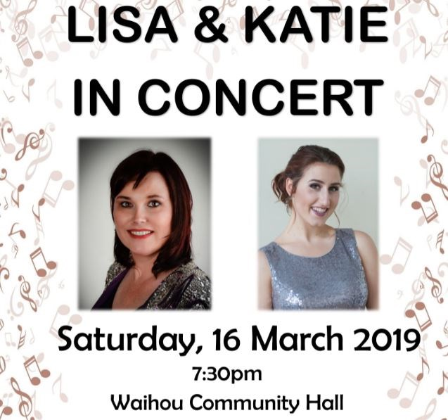 Get Information and buy tickets to LISA & KATIE IN CONCERT  on Waihou Hall