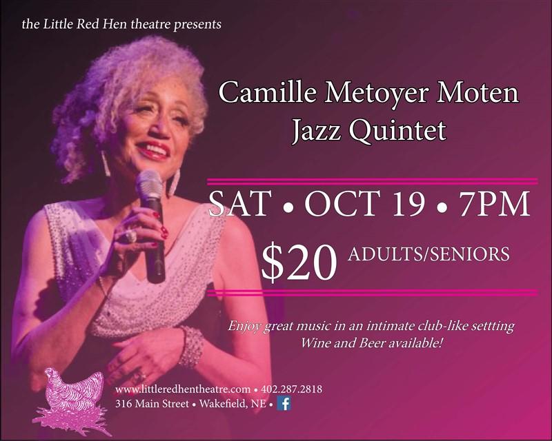 Get Information and buy tickets to Camille Metoyer Moten Jazz Quintet  on www.littleredhentheatre.com