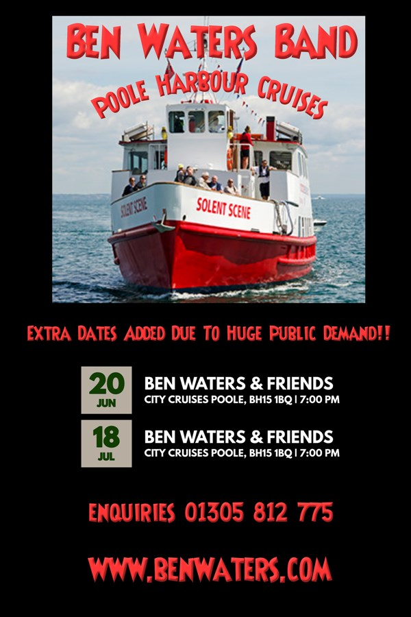 Get Information and buy tickets to Rhythm & Blues Cruise With live music and Fish and Chips on Ben Waters