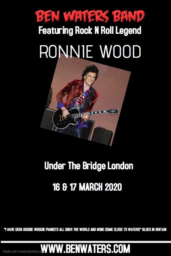 Get Information and buy tickets to Ben Waters & Ronnie Wood  on Ben Waters