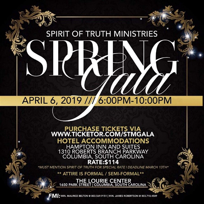 Get Information and buy tickets to Spirit of Truth Ministries Fundraising Gala  on Spirit of Truth Ministries