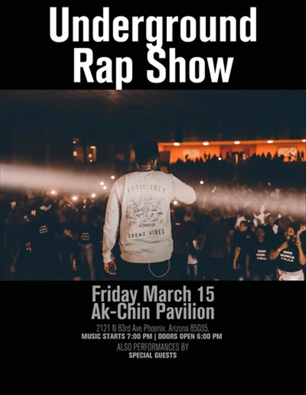 Get Information and buy tickets to Hip-Hop Underground Rap Show Come out to see local artist all around the world perform th on Trey's Productions Management