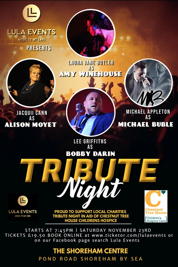 Get Information and buy tickets to TRIBUTE NIGHT  on LULAEVENTS.CO.UK