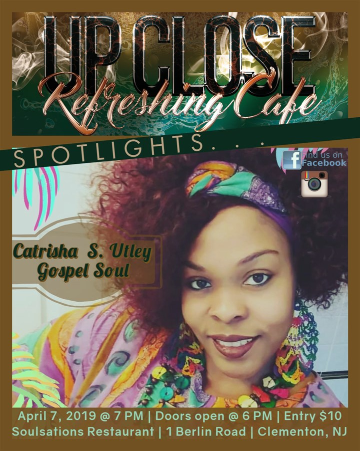 Get Information and buy tickets to Refreshing Cafe - Upclose Spotlights: Catrisha S. Utley Gospel Soul on HP Visual Connections/Entertainment