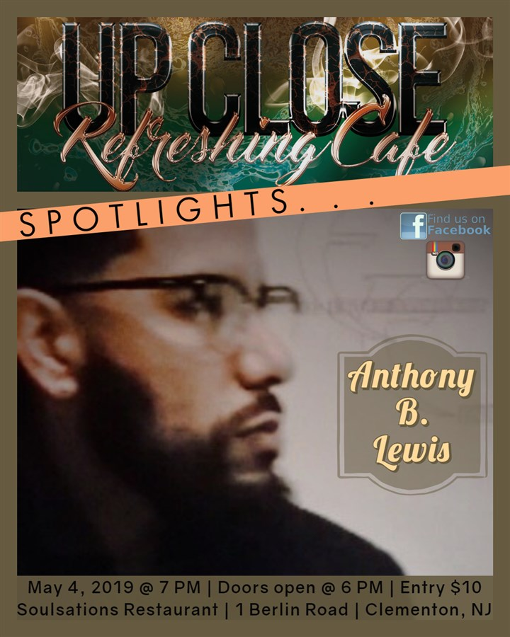Get Information and buy tickets to Refreshing Cafe - Upclose Anthony B. Lewis on HP Visual Connections/Entertainment