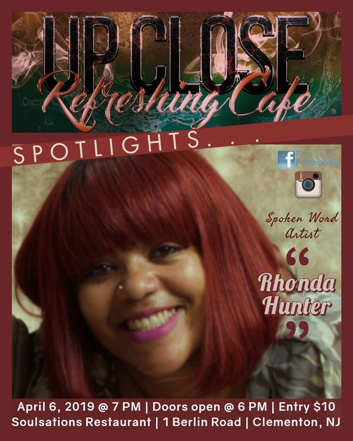 Get Information and buy tickets to Refreshing Cafe - Upclose Spotlights Rhonda Hunter (Spoken Word) on HP Visual Connections/Entertainment