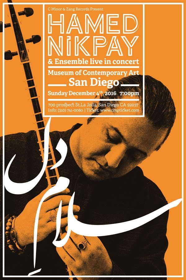 Get Information and buy tickets to Hamed Nikpay Live in San Diego  on CMinorProduction