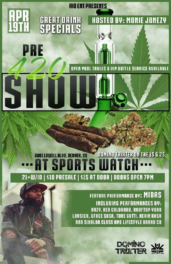 Get Information and buy tickets to AIO Entertainment Presents The 4/20 Pre-Show  on InThaStreet Music Group