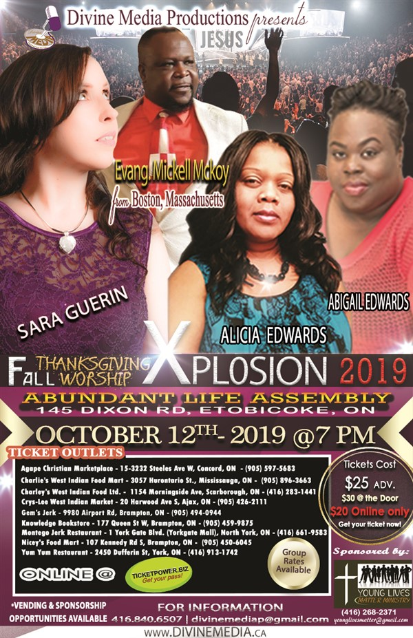 Fall Thanksgiving Worship Explosion 2019
