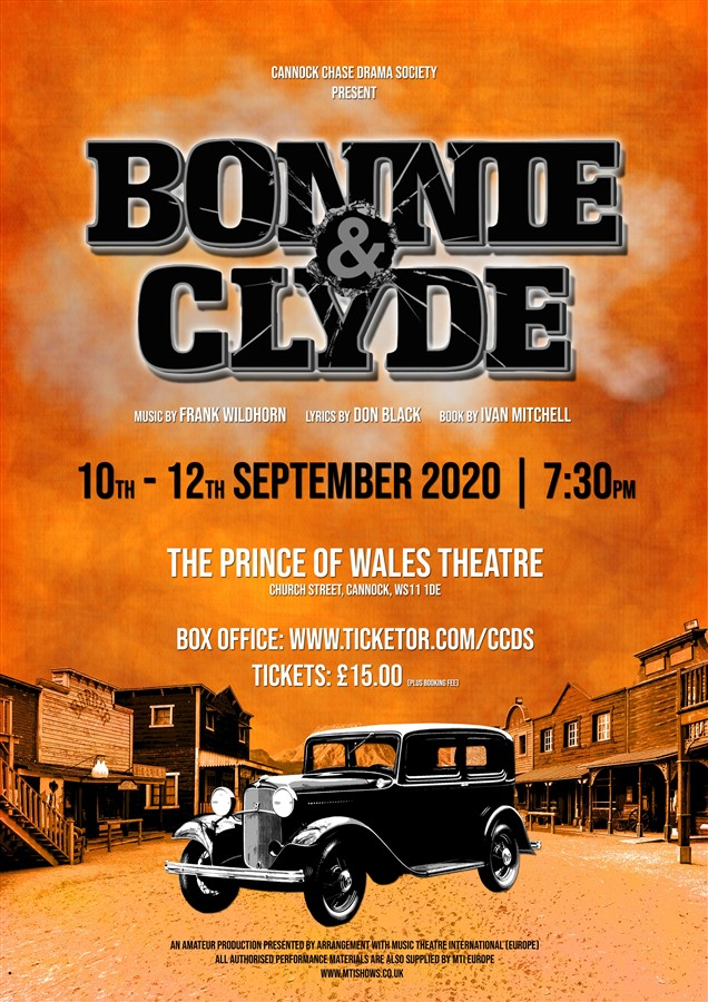 Get Information and buy tickets to Bonnie and Clyde  on Cannock Chase Drama Society