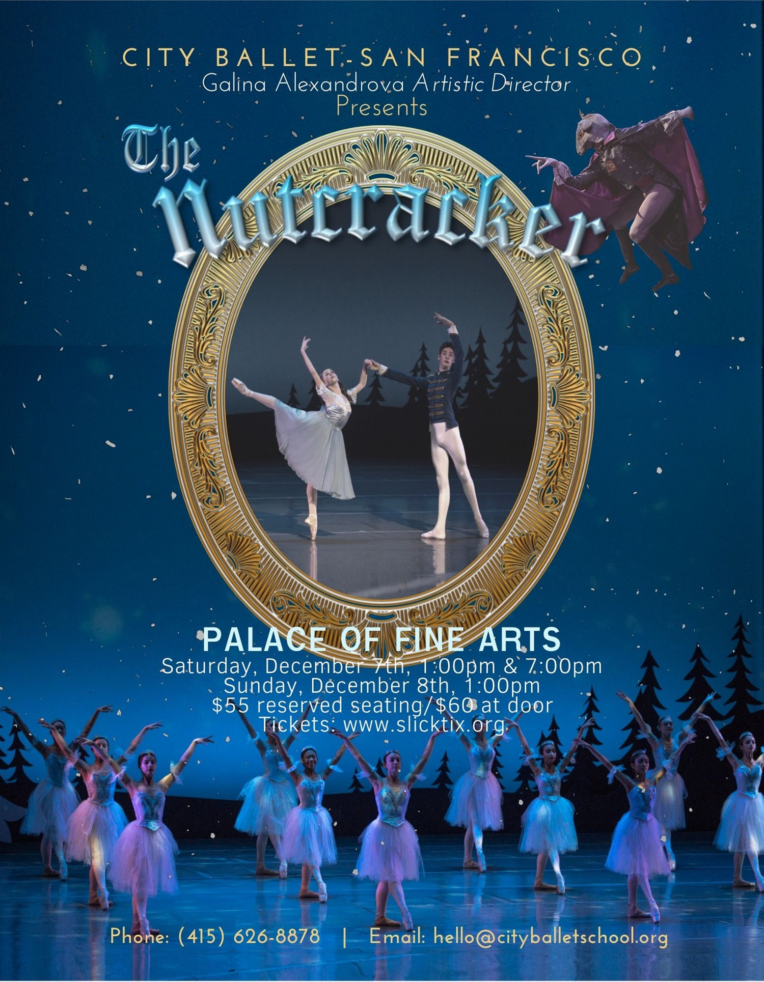 The Nutcracker Sunday, December 8 (1pm) on Dec 08, 13:00@Palace of Fine Arts Theatre - Pick a seat, Buy tickets and Get information on Slick - Tix slicktix
