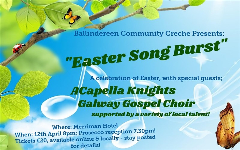 Get Information and buy tickets to Ballindereen Community Creche Presents EASTER SONG BURST on BallindereenCommunityCreche