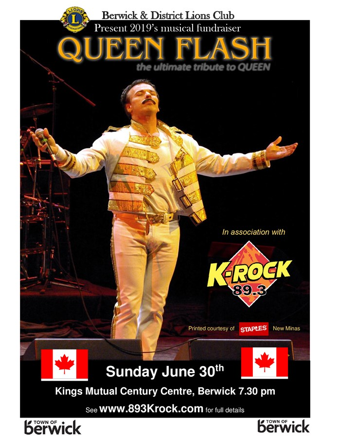 Get Information and buy tickets to Queen Flash Concert A tribute to Freddy Mercury & Queen on Berwick Lions Concert