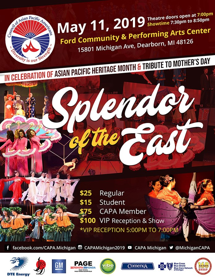Get Information and buy tickets to Splendor of the East  on Council of Asian Pacific Americans