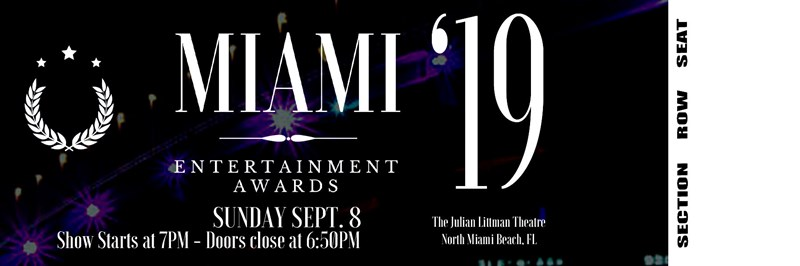 Get Information and buy tickets to 2019 Miami Entertainment Awards  on Miami Entertainment Awards