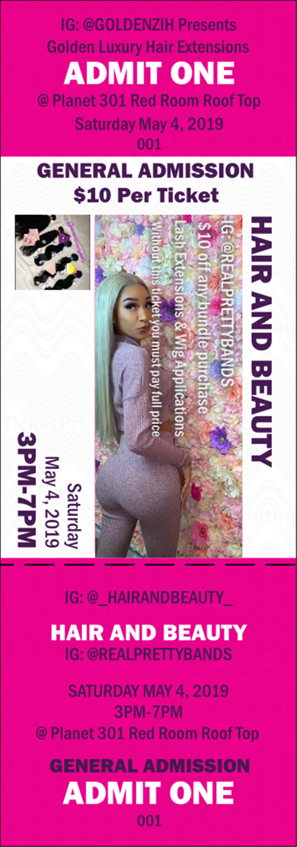 Get Information and buy tickets to GoldenLuxuryHairExtension PopUp Shop on GOLDEN LUXURY HAIR EXTENSIONS