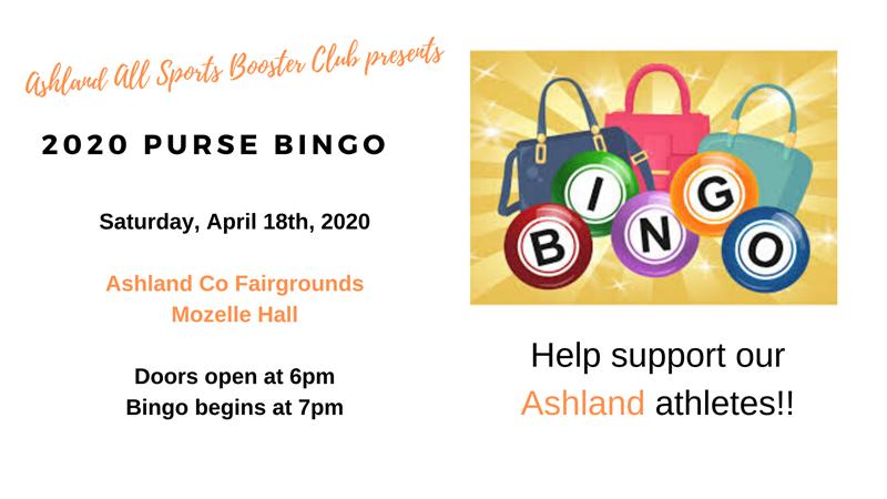 2020 Ashland All Sports Purse Bingo