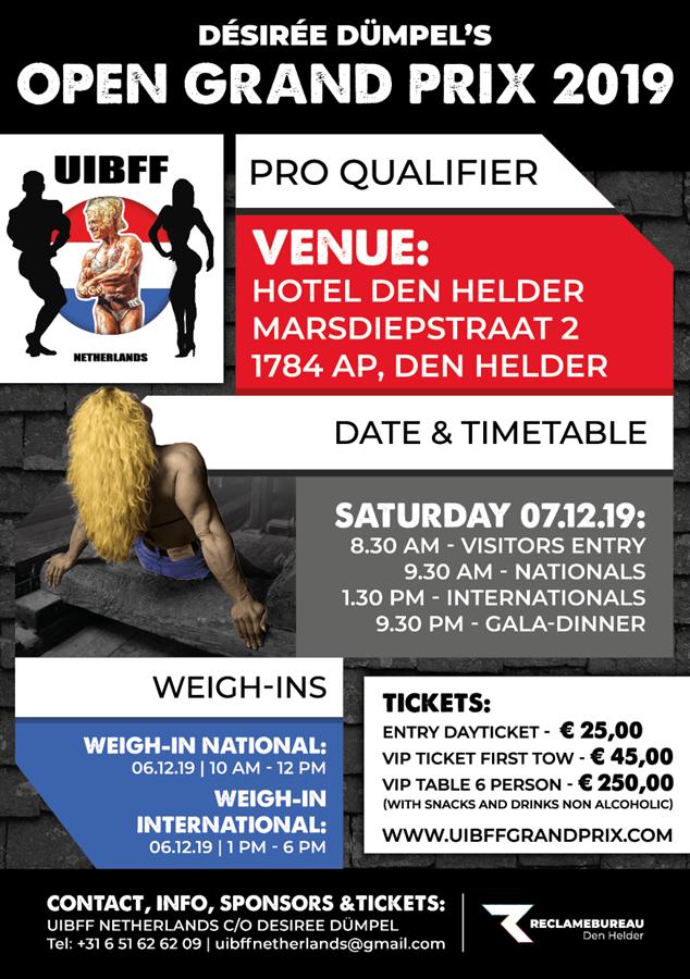 Get Information and buy tickets to UIBFF Open Dutch Grandprix by Desiree Dumpel on desireedumpel'sopengrandprix