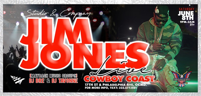 Get Information and buy tickets to Jim Jones Live!!! Ocean City, MD. on Studio & Company