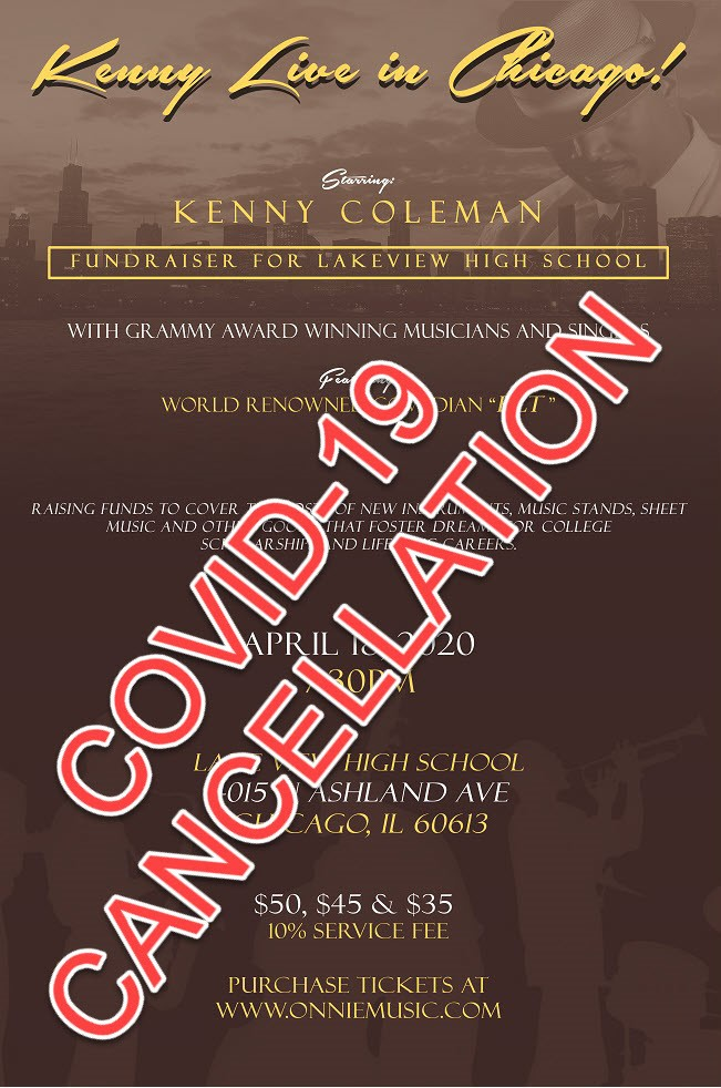 Kenny Coleman Live in Chicago! Jazz CD Release & Live Video Recording on Apr 18, 19:30@Lake View High School - Buy tickets and Get information on Onnie Music