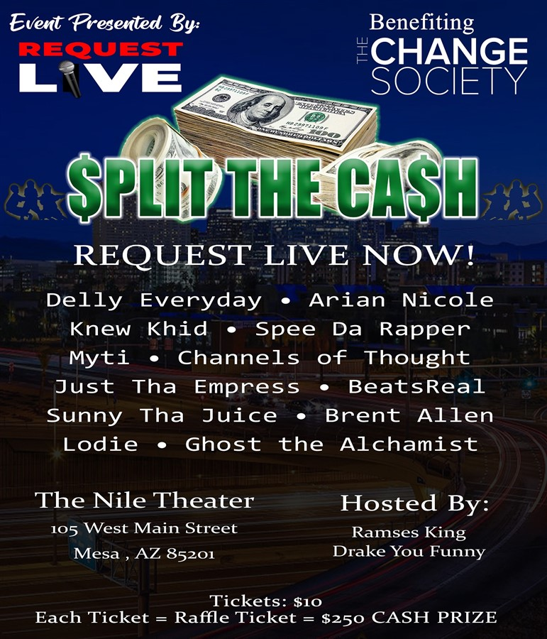 Get Information and buy tickets to Request Live! presents A SPLIT THE CASH Event on Request Live!
