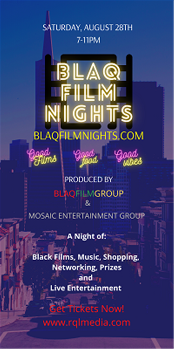 Get Information and buy tickets to BLAQ FILM NIGHTS Good Films - Good Food - Good Vibes on Request Live!