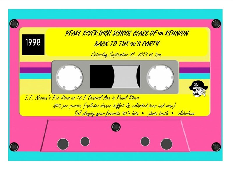 Get Information and buy tickets to PRHS Class of 98 Reunion Back to the 90s Party on PRHS class of 98 reunion