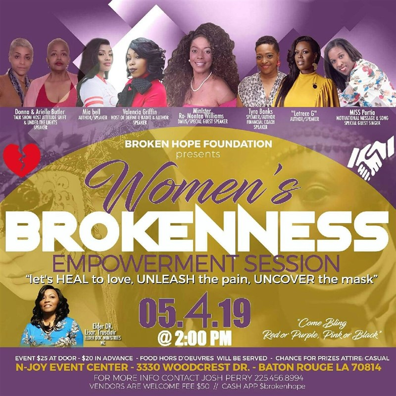 brokenness empowerment session for women