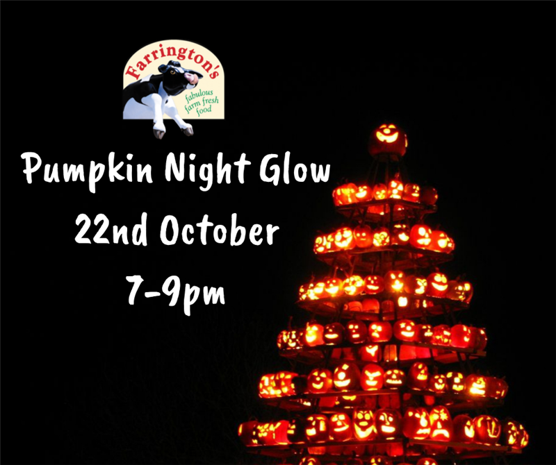Get Information and buy tickets to Pumpkin Night Glow 22nd October on Farrington's