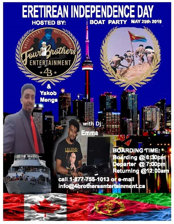May 25th 2019 Eritrean Independence Day Boat Party