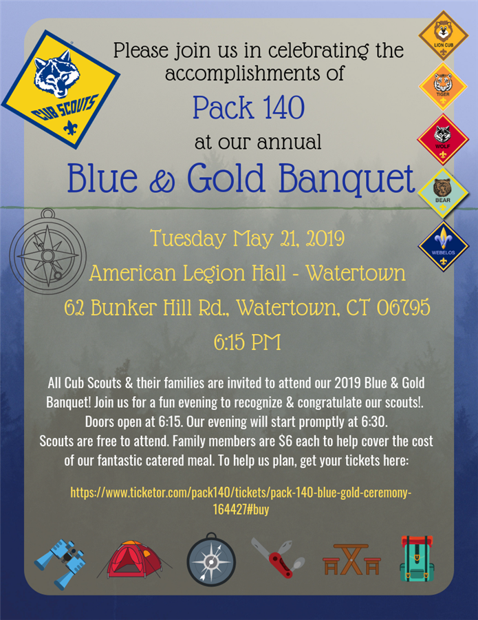 Pack 140 Blue & Gold Ceremony