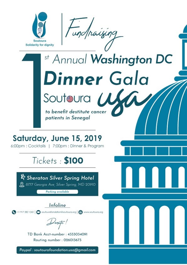 Get Information and buy tickets to Soutoura Annual Washington, DC Dinner Gala  on soutoura.org