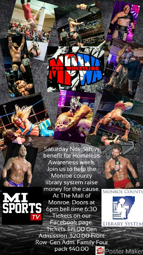 Get Information and buy tickets to November 9th Monroe  on Midwest Pro Entertainment