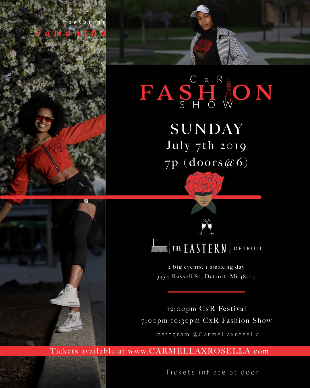 CxR Summer Fashion Show  on Jul 07, 19:00@The Eastern - Pick a seat, Buy tickets and Get information on Carmellaxrosella.com cxr