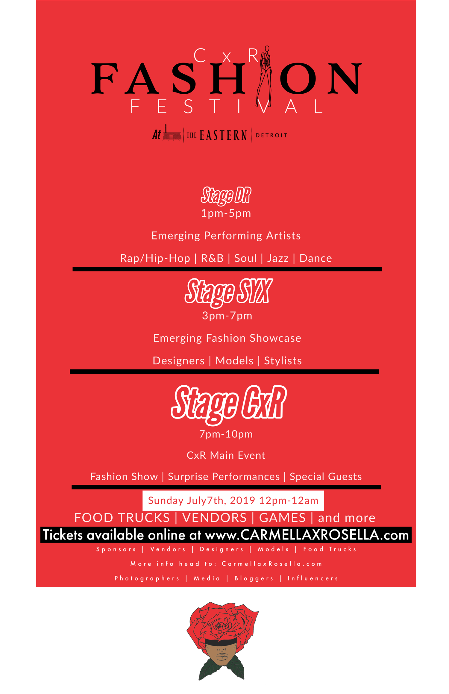 CxR Summer Festival Festival Only on Jul 07, 12:00@The Eastern - Buy tickets and Get information on Carmellaxrosella.com cxr