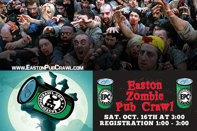 Get Information and buy tickets to Easton Zombie Crawl  on Easton Pub Craw