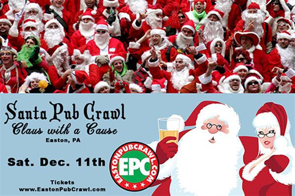 Get Information and buy tickets to Santa Pub Crawl  on Easton Pub Craw