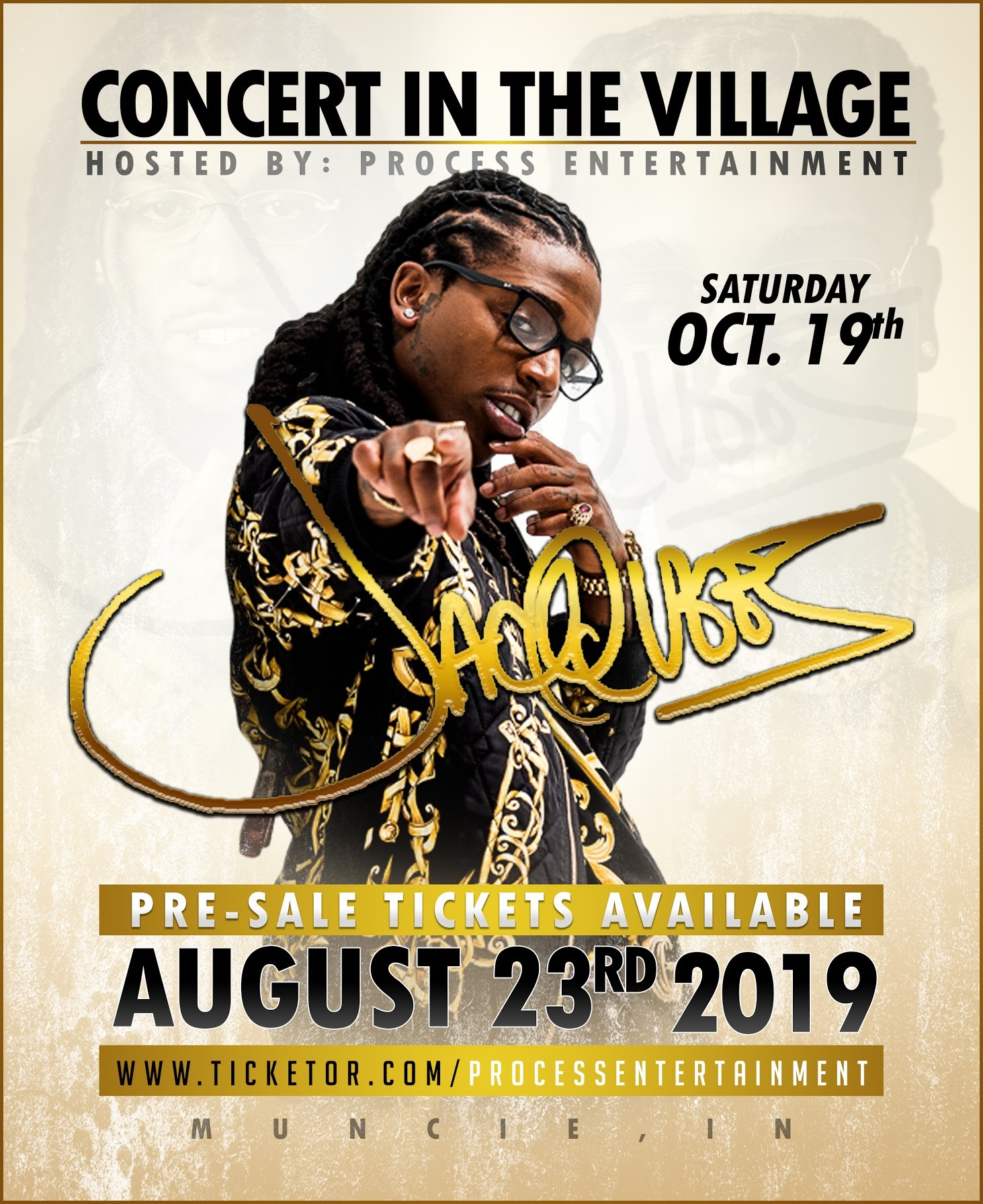 Jacquees LIVE @ Concert in the Village 2019 Muncie, IN (Outdoor) on Oct 19, 18:00@Village (Muncie) - Buy tickets and Get information on Process Entertainment