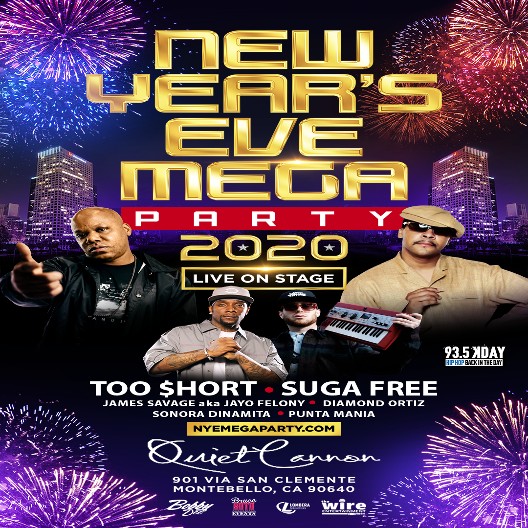 New Years Eve Mega Party 2020  on Dec 31, 20:00@Quiet Cannon - Buy tickets and Get information on The Wire Entertainment