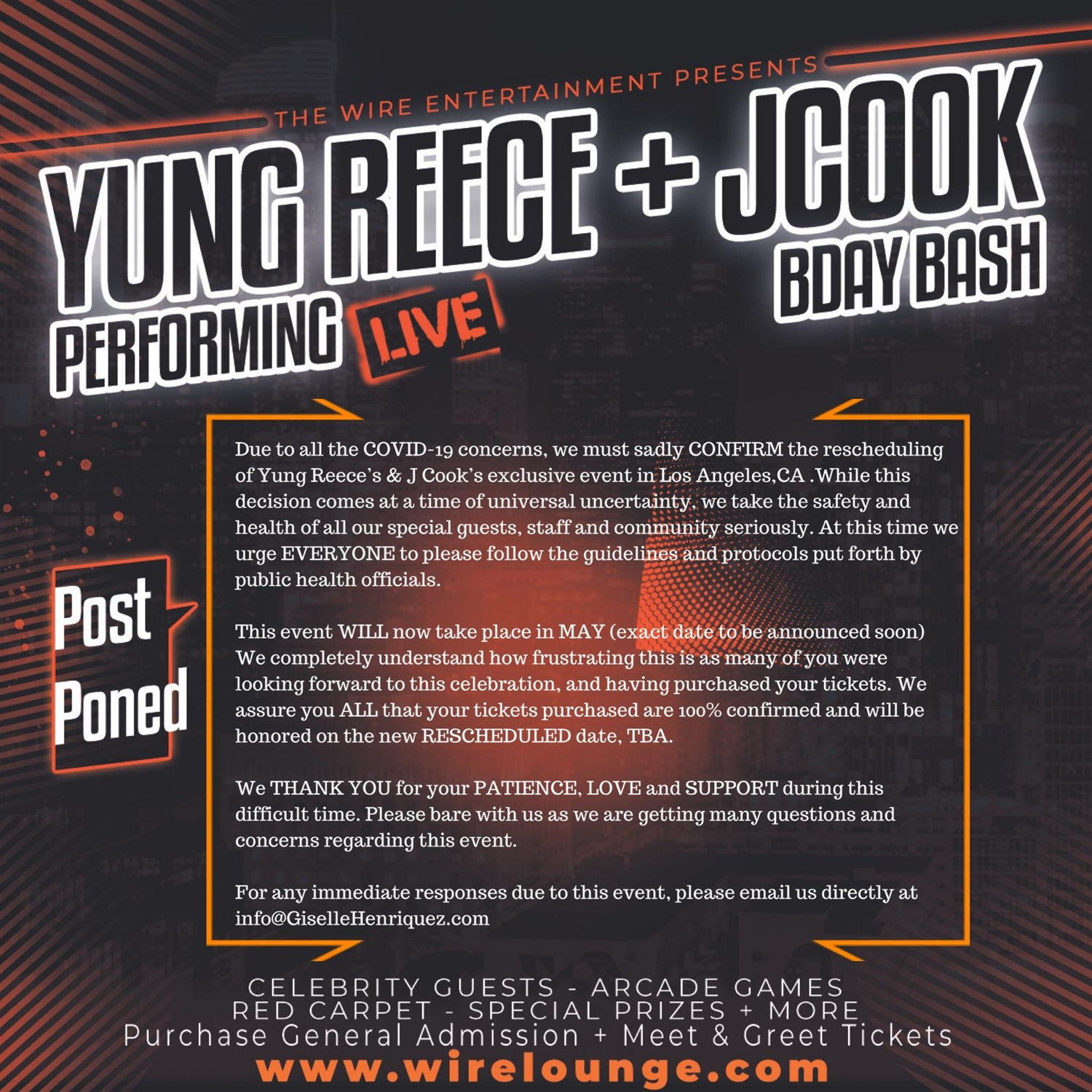 Yung Reece Live + JCook BDay Bash feat. Celebrity Guests  on Apr 05, 18:00@Wire Lounge - Buy tickets and Get information on The Wire Entertainment