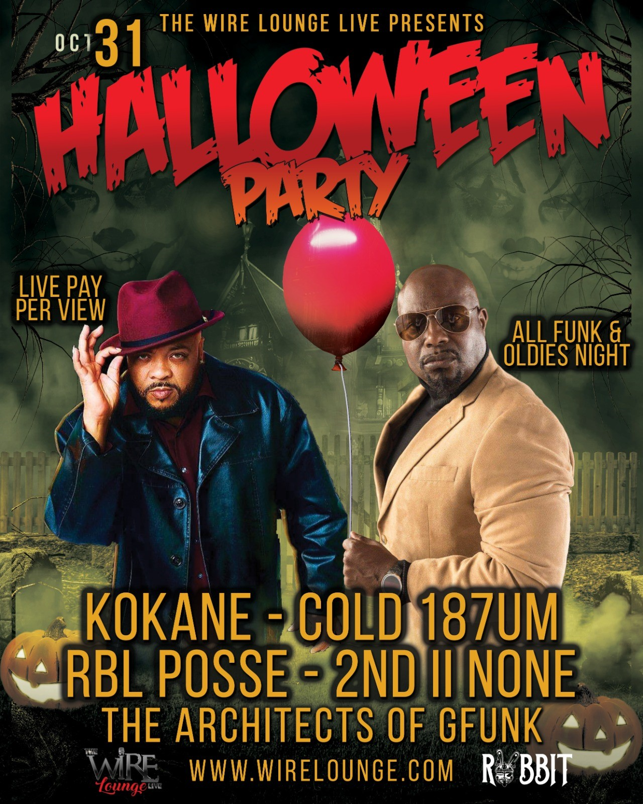 HALLOWEEN PARTY  on Oct 31, 22:00@The Wire Lounge Live - Buy tickets and Get information on The Wire Entertainment