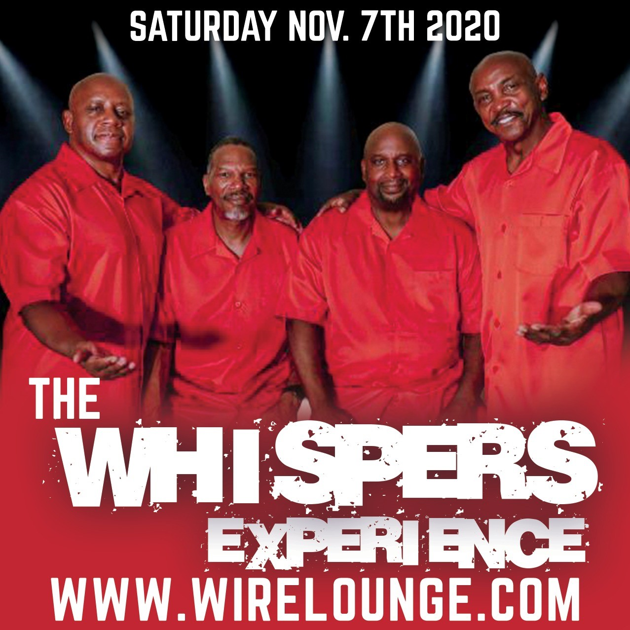 The Whispers Experience  on Nov 07, 22:00@The Wire Lounge Live - Buy tickets and Get information on The Wire Entertainment