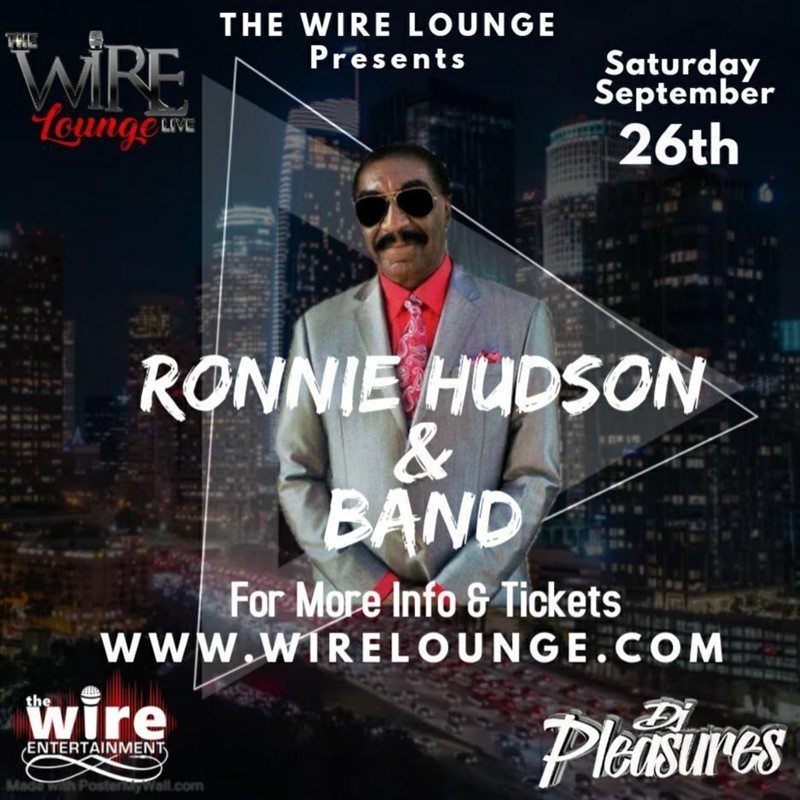 Get Information and buy tickets to Ronnie Hudson and Band  on www.djbehnood.com