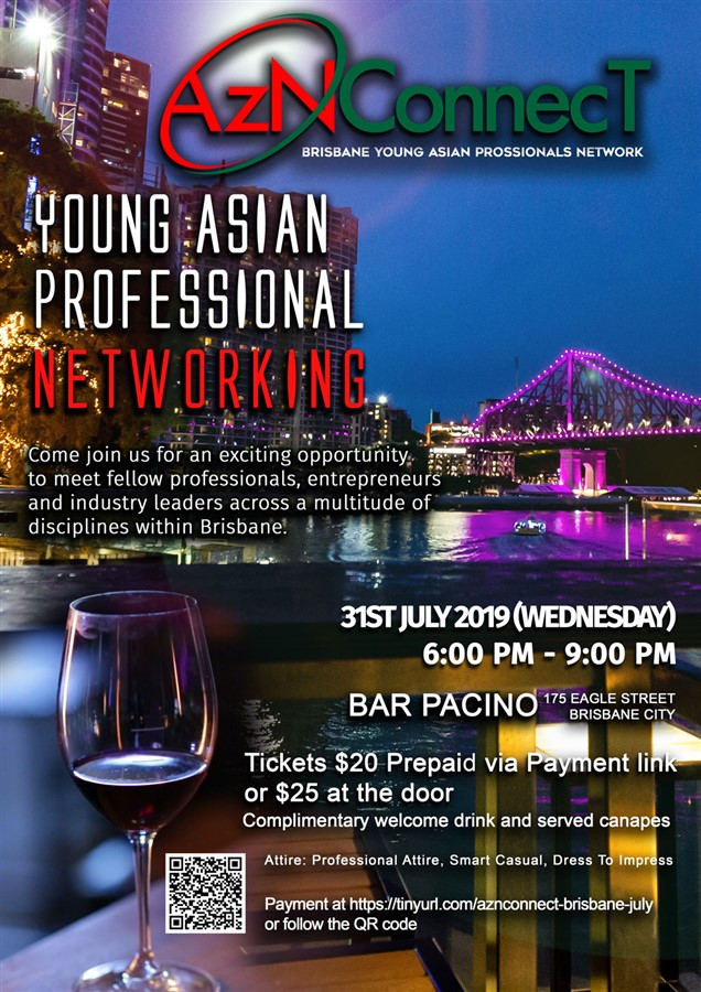 Get Information and buy tickets to AzNConnecT Brisbane Business Networking on AzNConnecT